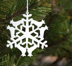 Christmas Tree Ornament - Corgi Snowflake