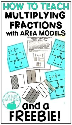 Read how I teach teach students to multiply fractions with area models with hands-on activities. Students can practice with manipulatives and sort visual area models to help better understand the concept of multiplying with fractions. This activity can b Fraction Games, Fraction Activities, Hands On Activities, Math Resources, Math Strategies, Instructional Strategies, Math Activities, Teaching Fractions, Math Fractions