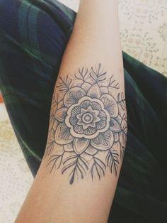 Mandala Forearm Tattoo Done By Katie Davis   http://tattoos-ideas.net/mandala-forearm-tattoo-done-by-katie-davis/