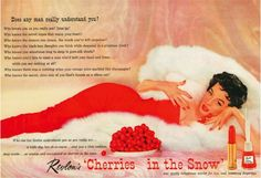 Vintage Revlon Christmas ad, 1950s.  #christmas #vintage