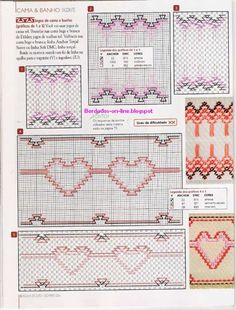 Swedish Weaving Pattern Swedish Embroidery, Types Of Embroidery, Hand Embroidery Stitches, Smocking Patterns, Crochet Patterns, Swedish Weaving Patterns, Sewing Crafts, Sewing Projects, Chicken Scratch Embroidery