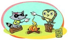 raccoon and owl - Google Search