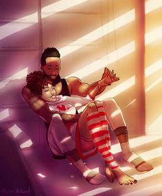 Sexy Black Art, Black Girl Art, Black Women Art, Black Girl Magic, Black Couple Art, Black Love Couples, Cute Couples, Black Love Artwork, Black Art Pictures