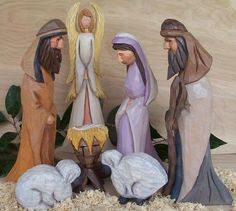 carved nativity sets | ... at http://www.etsy.com/listing/168918538/hand-carved-nativity-set-of-7