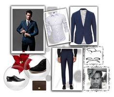 """""""Men's fashion"""" by ernes-okanovic ❤ liked on Polyvore featuring Komar, Dolce&Gabbana, J.Lindeberg, Giorgio Armani, Persol, Hush Puppies, Paul Smith, men's fashion and menswear"""
