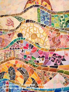 Emma Leduc - parc guell Gaudi - les pinceaux d'aquarelle