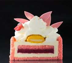 blackflower Cake Cookies, Cupcake Cakes, Layered Desserts, Pastry Art, New Cake, Japanese Sweets, Bakery Recipes, Fancy Cakes, Cake Tutorial