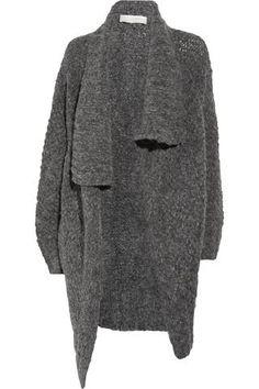 wool-blend cardi-coat