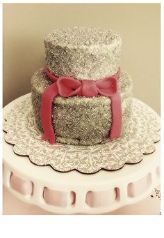 Crystal Paris Cake! Perfect for the girly girl who loves pink and sparkle. Everything is edible!