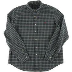 Ralph Lauren 2621 Mens Green Oxford Embroidered Button-Down Shirt XL BHFO