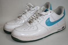 Nike Air Trainers Air Force One Mens Shoes Leather Rubber Lace UP 7UK 41EU White