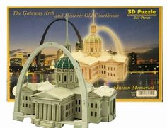 3D Puzzle - The Gateway Arch & Old Courthouse | PuzzleWarehouse.com