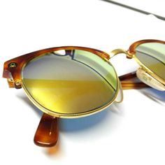 Sunglasses vintage Mirrored Gold Golden Elegant eyewear