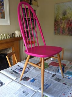 Ercol Dining Chairs, Ercol Chair, Kitchen Table Chairs, Kitchen Seating, Chair Upholstery, Upcycled Furniture, New Furniture, Furniture Makeover, Painted Wood Chairs