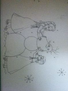 So some of you guys have been wanting me to draw Anna and Elsa... So here ya go