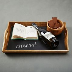 The Label Life | Host your soirees with signature serveware such as this chalkboard tray.