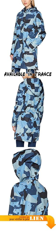 B01N8T40SI : khujo Barth Active Wear Jacket Blouson Femme Blau (Navy EA2) 54.