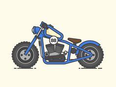 Motorcycle designed by Jacob Pinson. Bobber Motorcycle, Motorcycle Style, Car Illustration, Ex Machina, Bike Art, Icon Design, Character Design, Logos, Vehicles