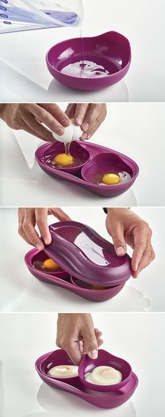 A simple way to chic? Yes! Try these Easy Poached Eggs at your next brunch party. Www.my.tupperware.com/crystalmason