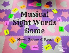 Mom to 2 Posh Lil Divas: Musical Sight Words Game: Move, Groove and Read!