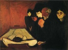 Edvard Munch - The Death Bed, 1895