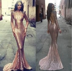 Prepare the prom dresses uk for the upcoming prom? Then you need to see sparkly sequins rose gold prom dresses long sleeves high neck sexy open back sheath mermaid prom gowns 2016 evening party wear in aolaifeidress and other dresses online and sexy prom dresses on DHgate.com.