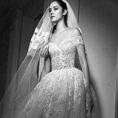 "Opulent princess style ""Vega"" off shoulder embroidered lace tulle ballgown featuring sheer floral detailed back from Zuhair Murad Fall 2017 Wedding Collection! @zuhairmuradofficial #zuhairmurad #zuhairmuradbridal #couture #newcollection #wedding #weddinggown #weddingdress #weddingshow #weddinginspiration #bridal #bride #bridetobe #bridalgown #bridaldress #bridalshow #bridalrunway #bridalfashion #bridaltrends #bridaldesigner #newyorkbridalmarket #newyorkbridalweek #newyorkbridalfashionweek…"