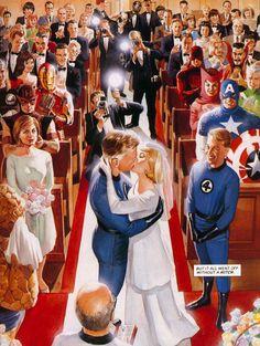 Casamento de Reed Richards e Sue Storm (Depois de mais de 8.000 tentativas saiu) - By Alex Ross