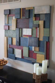 Mur en bois peint Art | Etsy