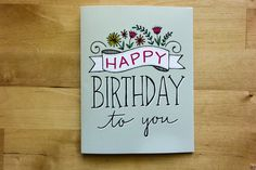 Happy Birthday To You Greeting Card  Birthday by TomDickandMary, $4.50