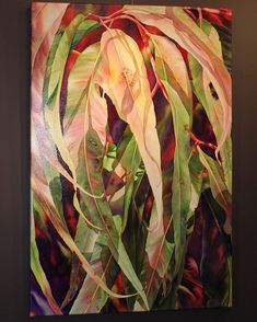 Gum leaves - large watercolour painting by Pat Hall Abstract Nature, Abstract Landscape, Landscape Paintings, Tree Paintings, Flower Paintings, Watercolour Flowers, Watercolour Painting, Coastal Paint, Alcohol Ink Crafts