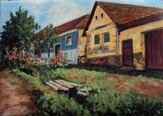 Visit Romania, Felicia, Cabin, House Styles, Painting, Home Decor, Decoration Home, Room Decor, Painting Art