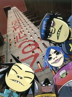 Gorillaz, this picture on one of their albums xD