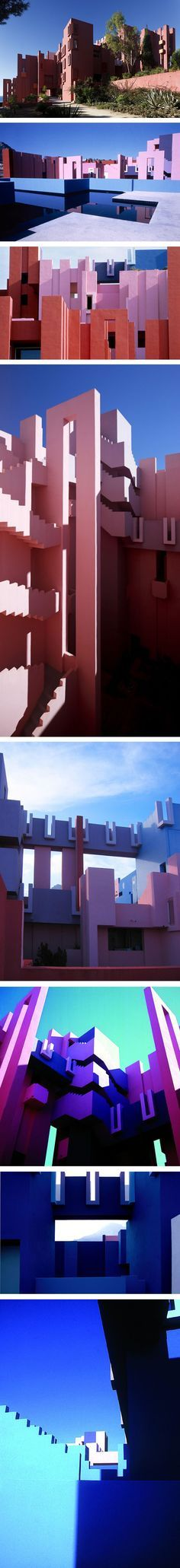 Ricardo Bofill - Taller de Arquitectura || Muralla Roja (Calpe, Alicante, España) || 1973