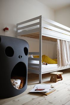 Photo by Swedish photographer Stellan Herner. Skullcave for kids by Our Children's Gorilla. Hideaway made of felt or rubber