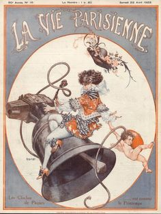 Chéri Hérouard (1881-1961). La Vie Parisienne, 22 Avril 1922. [Pinned 26-iii-2015] Vintage Illustration Art, Vintage Artwork, Illustrations, Vintage Posters, Vintage Book Covers, Vintage Magazines, Pin Up, Art Deco Posters, 1920s Art