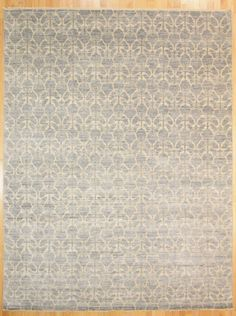 "Kaoud Modern Rugs Grey Size 9' 2"" x 12' 0"" - Rectangle"