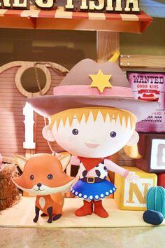 Cowgirl + Fox from a Little Cowboy Birthday Party via Kara's Party Ideas | KarasPartyIdeas.com (25)