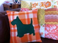 Nome at Home: Recycled wool blanket cushions