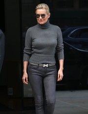 Yolanda Hadid Leather Belt