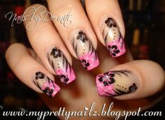 Bundle Monster Pink French Tips Nail Art Design & Video Tutorial - My Pretty Nailz