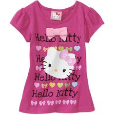 Hello Kitty Baby Girls' Short Sleeve Bow Graphic Tee. 12, 18, 24 meses. 3, 4, 5 años. $6.47