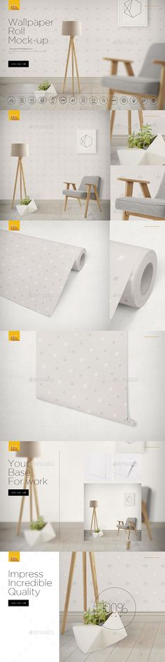 Wallpaper Roll Mock-up. Download here: https://graphicriver.net/item/wallpaper-roll-mockup/17309728?ref=ksioks