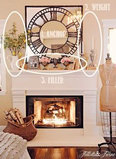 Fireplace mantel decor ideas home fireplace mantel decor master bedroom mantel from fireplace mantel decorating ideas . fireplace mantel decor ideas home Home Design, Home Living Room, Living Room Decor, Dining Room, Apartment Living, Mantel Styling, Estilo Interior, Cozy House, Family Room