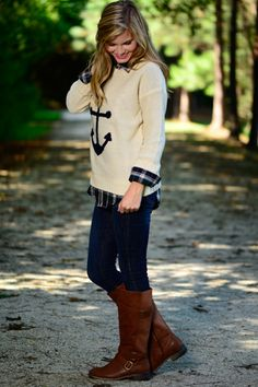 Drop Anchor Sweater, Cream