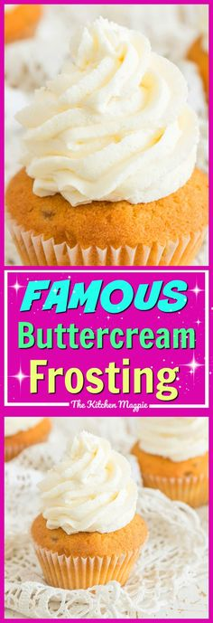 Famous Buttercream Frosting! Sweet and salty mix together to make this the best buttercream frosting recipe! #frosting #recipe #dessert #cakes #icing