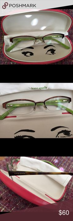 Kate Spade Frames These are very nice frames. Purchased them and they are a bit too small for my face. Love them so much. They are in perfect condition. Kate Spade Accessories Glasses