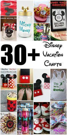 Over 30 Disney vacation DIY crafts!