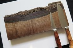 12 magnetic knife rack Curly American Walnut natural by EEKnives