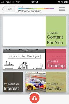 Great app design from Stumbleupon - very fresh!